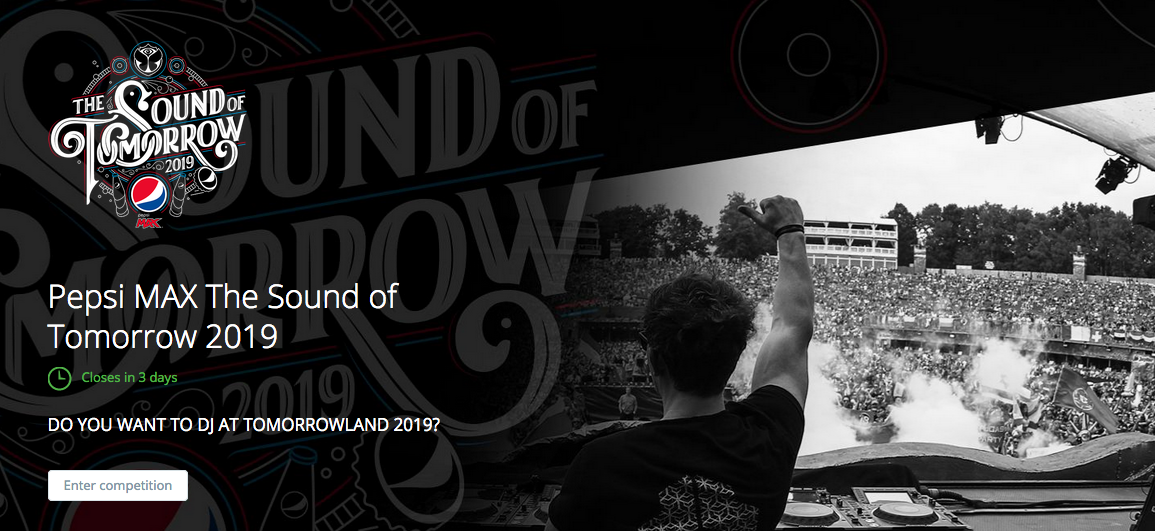 Concours DJ Pepsi MAX The Sound of Tomorrowland 2019