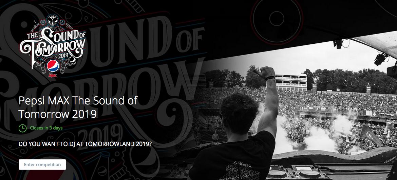 Concours DJ Pepsi MAX The Sound of Tomorrowland 2019