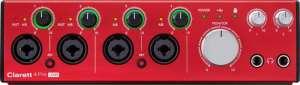 carte son Focusrite Clarett 4Pre USB interface audio usb c face avant