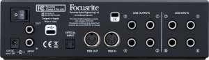 carte son Focusrite Clarett 4Pre USB interface audio usb c face arriere