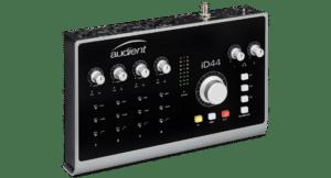 interface audio usb c Audient iD44 face avant carte son usbc